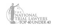 The logo for The National Trial Lawyers Top 40 Under 40.